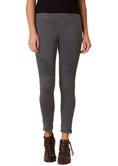 - Moto Jegging in Dark Grey
