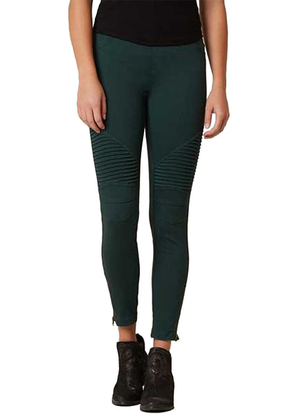Moto Jegging in Emerald