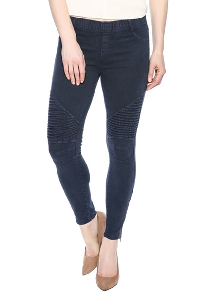 Moto Jegging in Navy