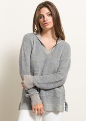 Maternity Tops - Hooded Sweater in Blue