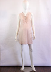 Mandarin Collar Dress in Pink