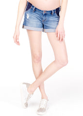 Mia Boyfriend Short in Medium Wash
