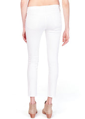 Sasha Skinny with Inset Panel in White - modish MATERNITY