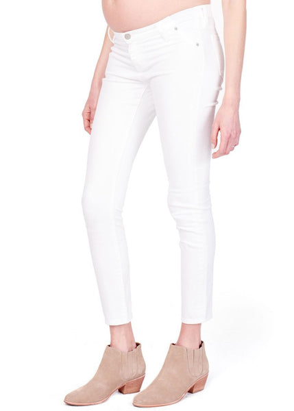 Sasha Skinny with Inset Panel in White