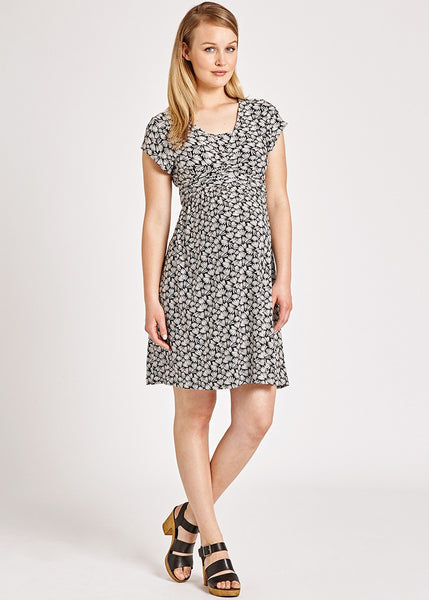 Monochrome Print Tie Dress