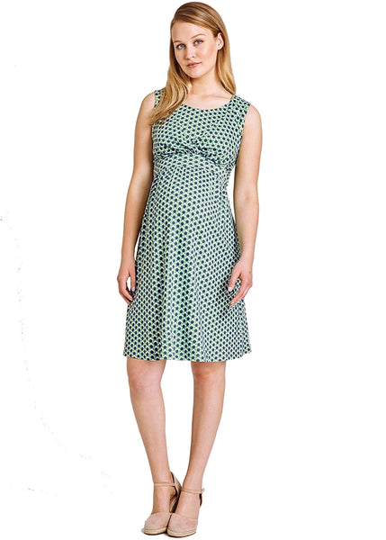 Spot Dress in Green Print