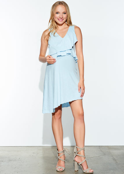 Raw Edge Ruffle Dress
