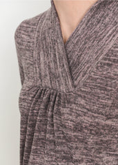 Tanya Knit Tunic in Dusty Rose