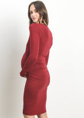 Anya Dress in Burgundy