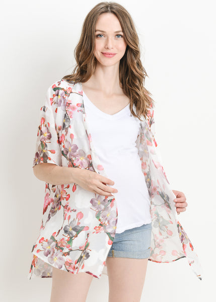 Bohemian Jacket in Ivory Floral