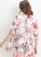 Maternity Tops - Bohemian Jacket in Ivory Floral
