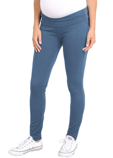 Mid Rise Ponti Pant in Denim