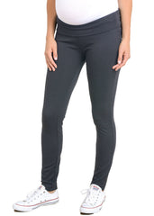 Maternity Pants - Mid Rise Ponti Pant in Coal