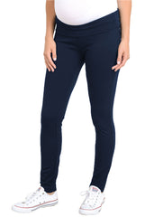 Maternity Pants - Mid Rise Ponti Pant in Navy