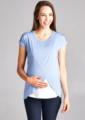 Tulip Top in Light Blue - modish MATERNITY