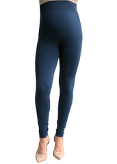 Maternity Leggings - Leggings in Denim Blue