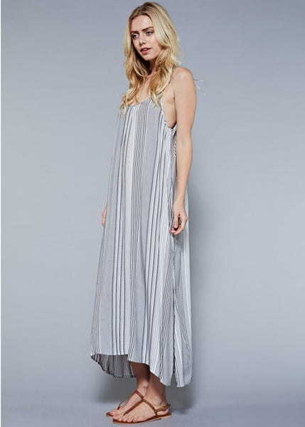 Maxi Slip Dress with Side Slits