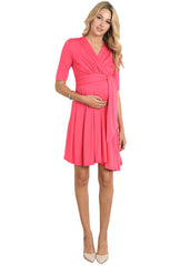 Maternity Dresses - Front Tie Dress in Strawberry