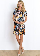 Floral Printed Peplum Dress