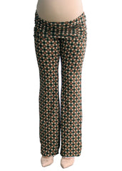 Yogi Knit Pant in Green Geo Print - modish MATERNITY