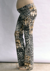 Yogi Knit Pant in Leopard Print - modish MATERNITY