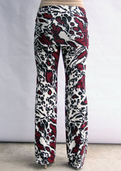 Yogi Knit Pant in Burgundy Damask Print - modish MATERNITY