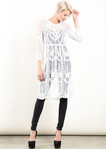 Annette Embroidered Dress