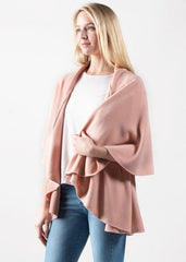 Shawl Vest in Blush