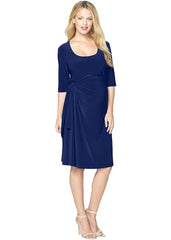 Maternity Dresses - Lydia Adjustable Side Tie Dress in Navy