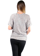 Cecyy Top in Grey Mix