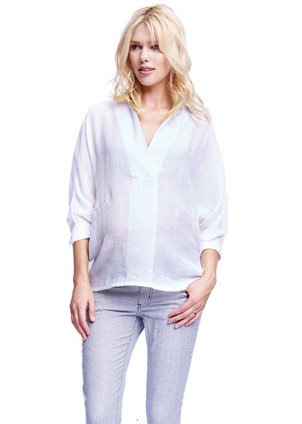 Oversize Blouse in White