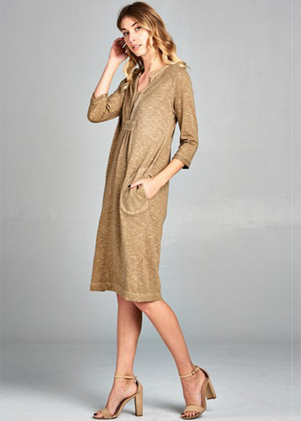 Easy Breezy Cotton Dress in Olive