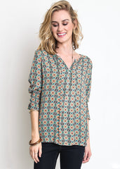 Print Top with Side Ties