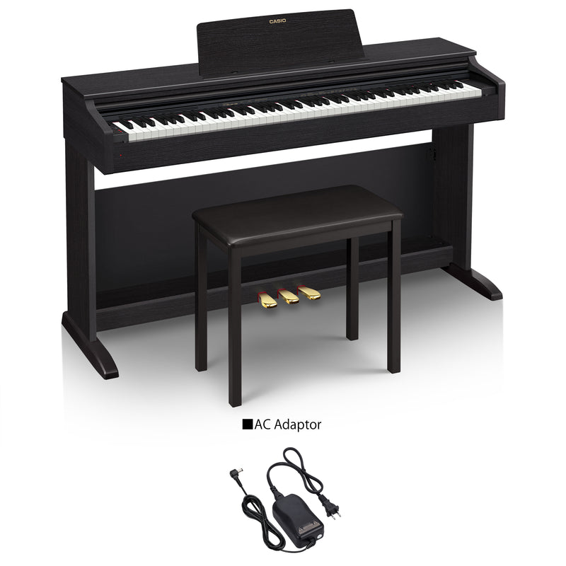 Celviano AP-270 Beautiful Cabinet Digital Piano for Beginners. The AP-270 features 22 built-in tones that allow you to do split and layer as required, including two gorgeous stereo grand pianos, which breathe with lively damper resonance that stimulates the entire body of the piano, not just the strings.