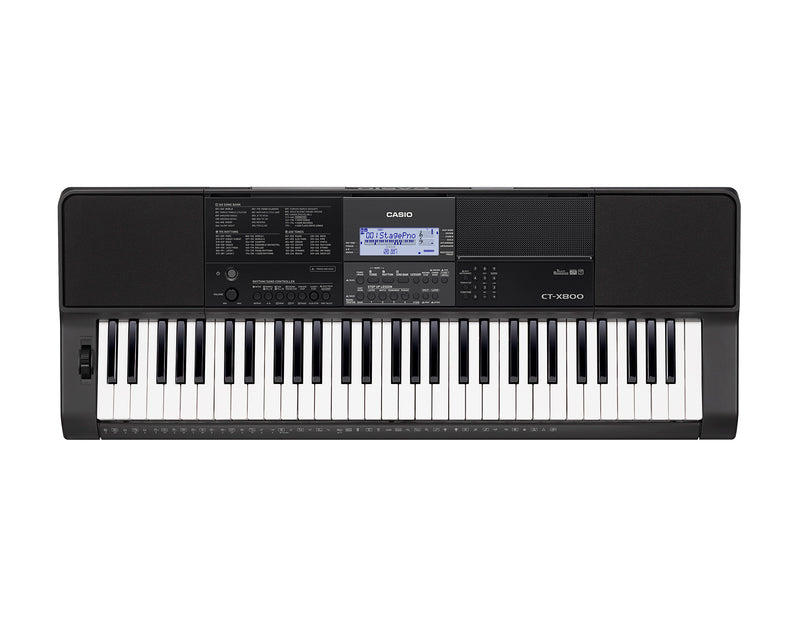 Casio CT-X800 Basic Electronic Music Arranger Keyboard with superior sounds., powered by the AiX sound source. Equipped with 600 tones and 195 rhythms.