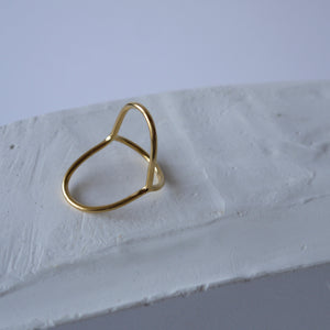 brillpiece line lip ring (GOLD)