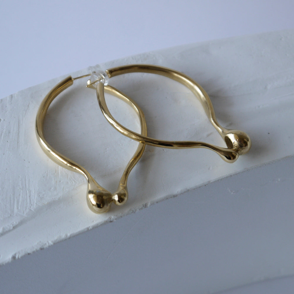 brillpiece bulb oval earring (GOLD)