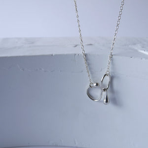 brillpiece loop chain necklace (SILVER)