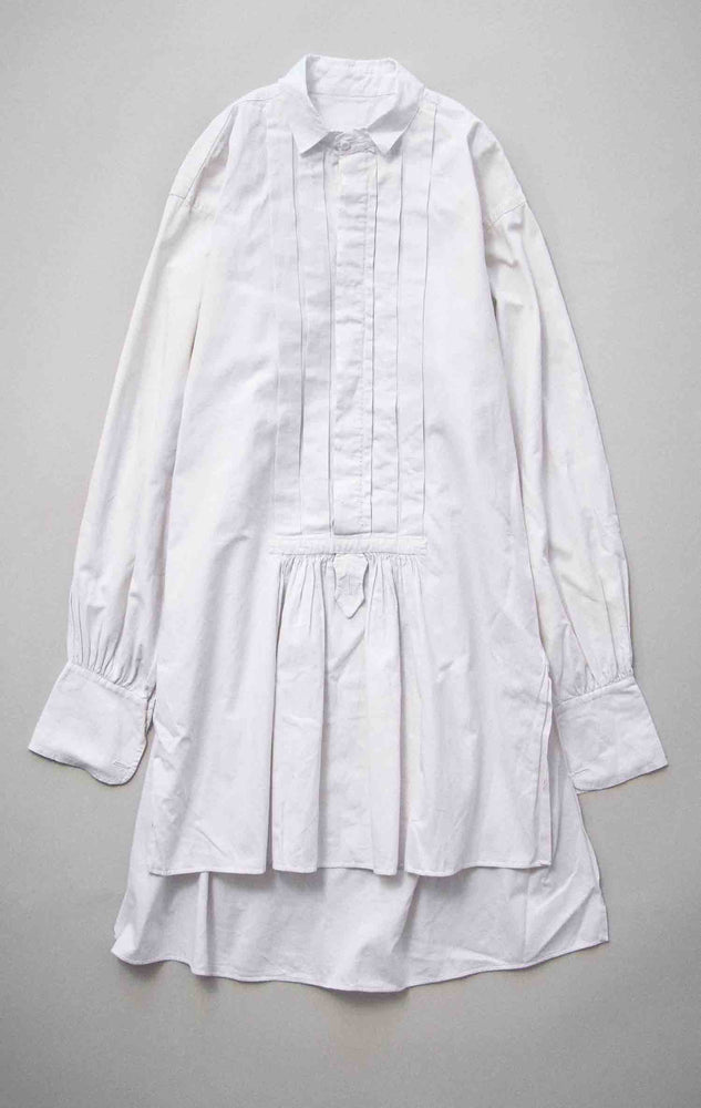 Load image into Gallery viewer, Vintage French Early 1900s White Cotton Dress Shirt