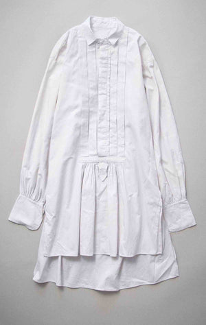 Vintage French Early 1900s White Cotton Shirt