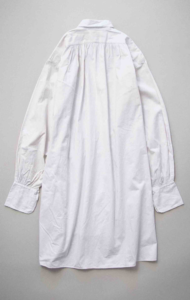 Vintage French Early 1900s White Cotton Dress Shirt