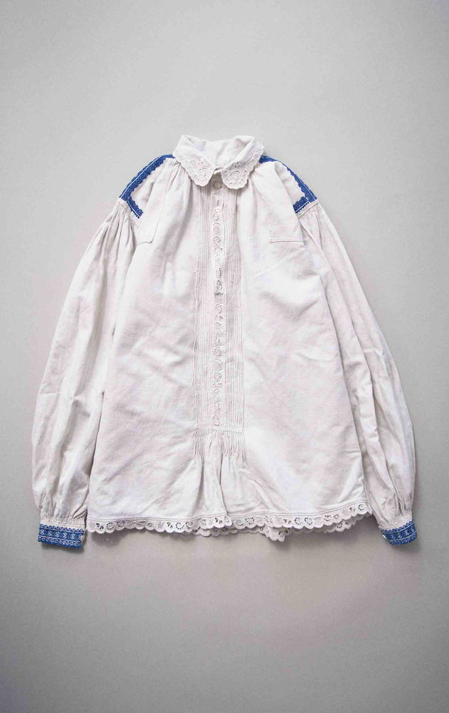 Load image into Gallery viewer, Vintage 1940s Transylvanian Linen Smock Shirt