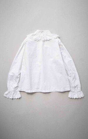 Vintage English White Cotton Lace Blouse