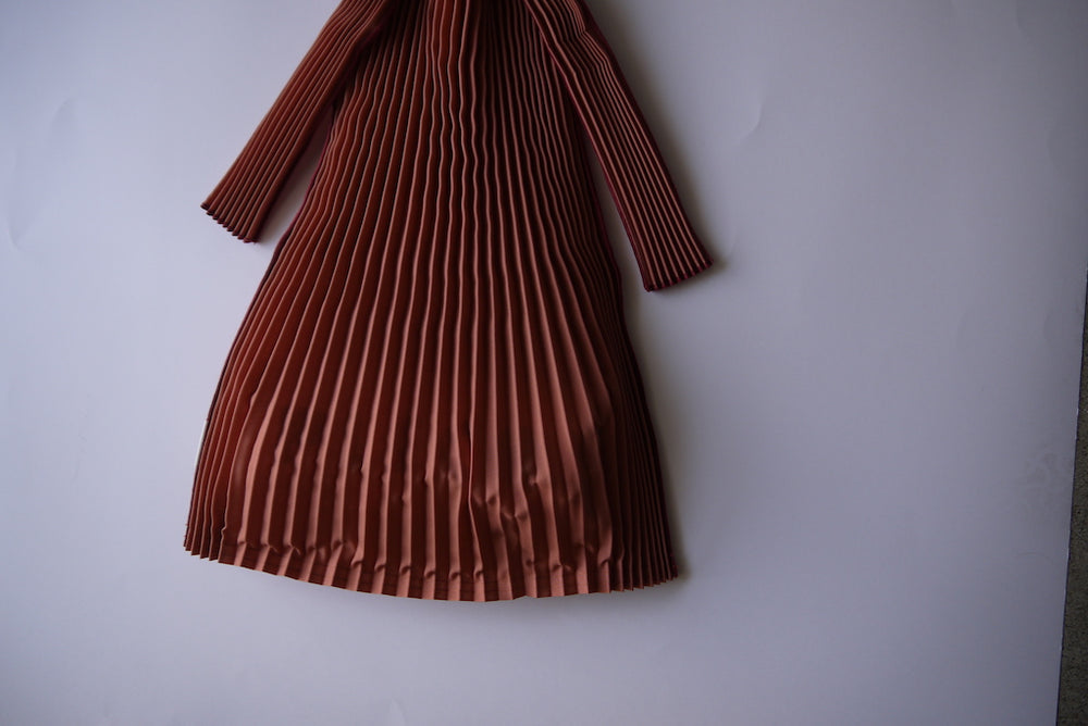 Load image into Gallery viewer, knaplus PLECO TATE PLEATS L 煉瓦色(BRICK RED)