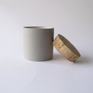Load image into Gallery viewer, HUMBLE CERAMICS Canister(L) Granite&Snow