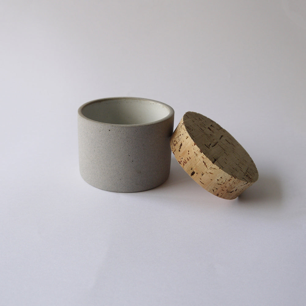 Load image into Gallery viewer, HUMBLE CERAMICS Canister(M) Granite&Snow