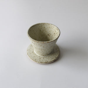 HUMBLE CERAMICS Tenshi Coffee Dripper Sandstone&Snow white