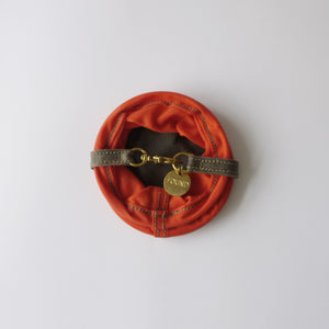 FOUND MY ANIMAL Orange Waxed Cotton Canvas Water Bowl 【携帯用水飲みボウル】