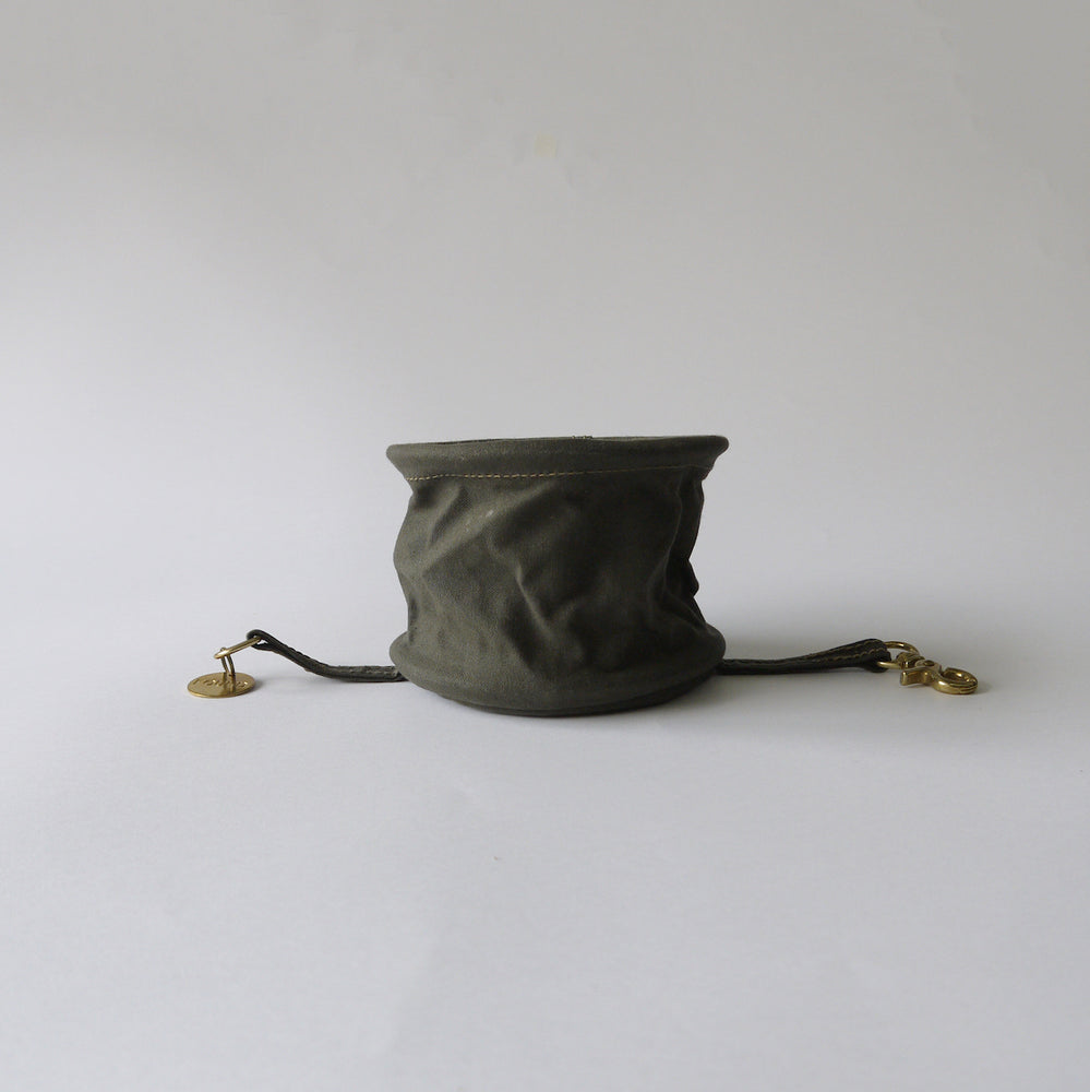 FOUND MY ANIMAL Olive Cotton Canvas Water Bowl【携帯用水飲みボウル】