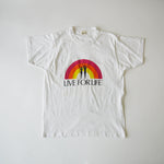 Vintage Live For Life Rainbow T Shirt